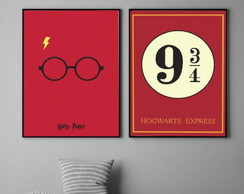 Quadros Harry Potter - 30x40cm
