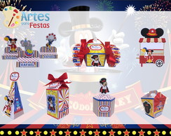 Kit: 60 Lembrancinhas Personalizadas O Circo do Mickey