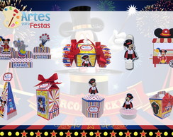 Kit: 145 Lembrancinhas Personalizadas O Circo do Mickey