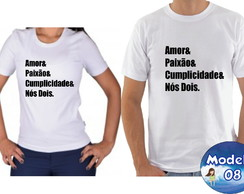 aa7b2dd77c ... Kit camiseta personalizadas namorados casal c 2