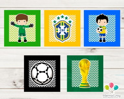 Quadros de Papel - Copa do Mundo