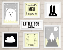 Kit de Quadros - Be Brave, Little Boy