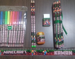 Kit Escolar - MineCraft