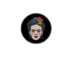 Patch Bordado Termocolante Frida Kahlo - modelo3