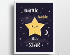 Quadro Twinkle Little Star A4 (com moldura)