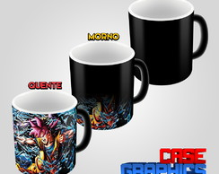 Caneca Mágica Dragon Ball Super Goku Blue vs Beerus