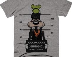 ... Camiseta Pateta preso Disney Thug Unissex Cinza Mescla 71e23bb44b1