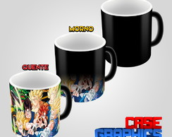 Caneca Mágica Dragon Ball GT Goku Vegeta Super Sayajin