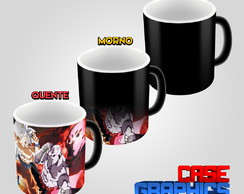 Caneca Mágica Dragon Ball Goku Instinto Superior vs Jiren
