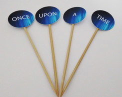 Topper para mesa once upon a time