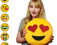 30 Almofadas Emoji Pelúcia Bordada Whatsapp Emoticon Amor