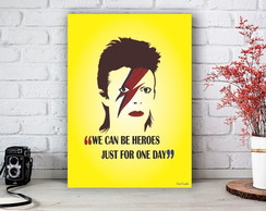 Placa Decorativa Bowie Face Be Heroes Tamanho M