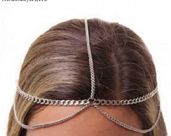 Head chain de correntes prateada