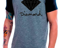 Camiseta Raglan Manga Curta Diamond Diamante