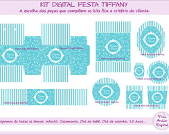 Kit Digital Festa Azul Tiffany