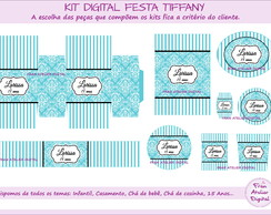 Kit Digital Festa Azul Tiffany - 15 anos