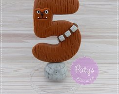 Vela decorada Chewbacca- Star Wars