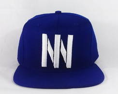 Boné Snapback Aba Reta Azul Johnny Person