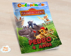 Revista colorir a guarda do leão pumba kion