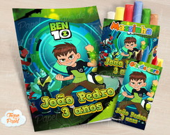 Kit colorir giz massinha Ben 10