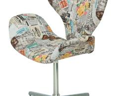 ... Cadeira Poltrona Decor Estampa Jornal e8efe0efd6