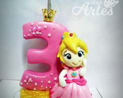 Vela decorada Princesa Peach