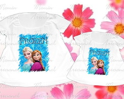 Kit 2 batas ou camisetas Divertidas frozen