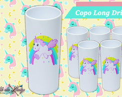 Copo Long Drink - Unicórnio