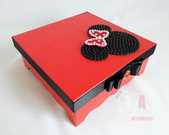 Caixa MDF Decorada Minnie mod. 2