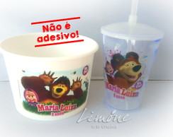 kit cinema Masha e o urso