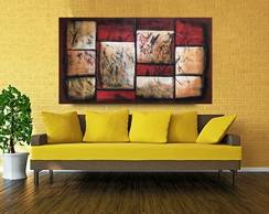 Quadro painel abstrato 140x80