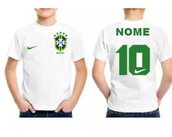 ... Camiseta Infantil Brasil Personalizada com Nome 30c40b956c6a8