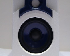 Caixa SDB SOUND Small Blue Branca
