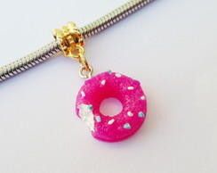 Pingente banh Ouro DONUT Pink