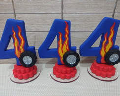 Vela HOT WHEELS - 4 ANOS
