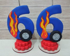 Vela HOT WHEELS - 6 ANOS