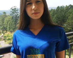 Camiseta do Brasil Adulto e Juvenil Decote V
