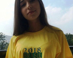 Camiseta do Brasil Adulto e Juvenil Decote Redondo