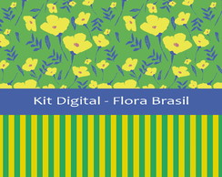 Kit Digital Flora Brasil - Estampa para Scrapbook