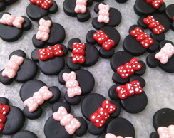 Aplique Biscuit Mickey e Minnie