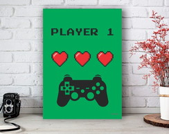 Placa Decorativa Game Player 1 Tamanho M