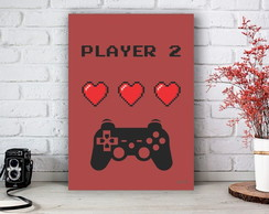 Placa Decorativa Game Player 2 Tamanho M