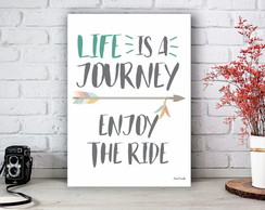 Placa Decorativa Life is a Journey Boho Tamanho M