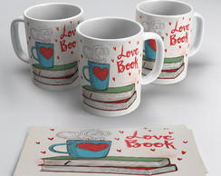 Caneca Porcelana Love Book