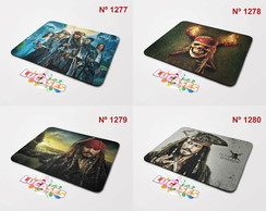 Mouse Pad Piratas do Caribe Jack Sparrow Pirata Mousepad