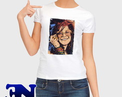 Camiseta Janis Joplin Mercedes Benz Rock Roll Blues
