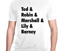 Camiseta Serie How I Met Your Mother Nomes Personagens