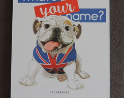 Placa Decorativa Tipo Quadro Tema Pet Parents Bulldog Inglês