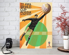 Placas Decorativas Quadro - Copa do Mundo - Rússia 2018