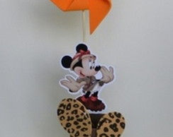 Enfeite de mesa minnie safari